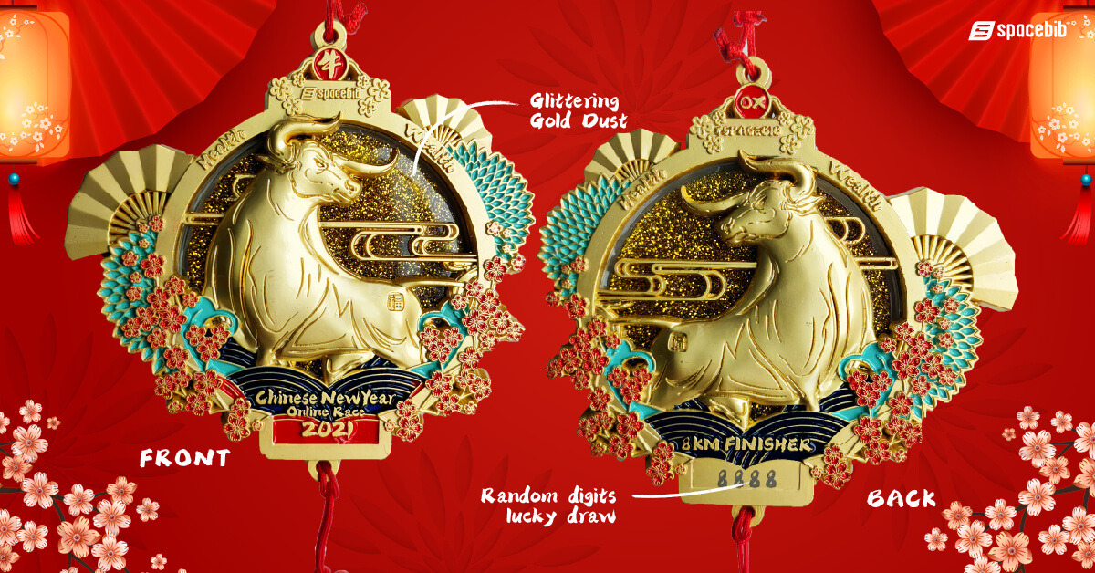 Finisher Medal (Lucky Gold Colour)