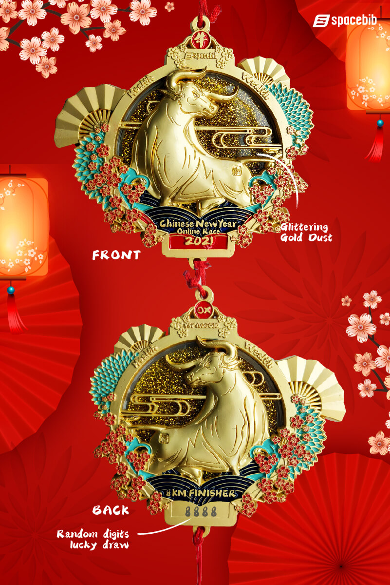 Finisher Medal (Lucky Gold Colour)#vertical_image
